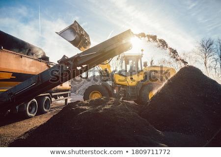 Föld dolgozik köteg ipari létesítmény építkezés Stock fotó © Kzenon