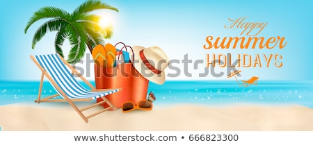 Summer Vacation Beach Advertise Banner Vector Stock photo © pikepicture