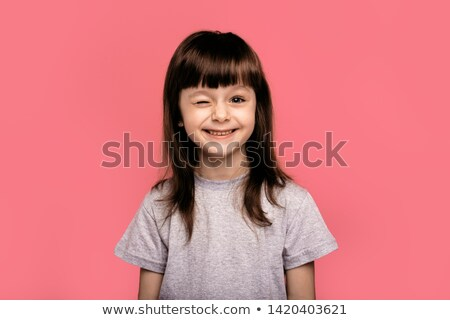 People, emotions and facial expressions concept. Adorable young woman being puzzled and surprised, i Stock photo © vkstudio