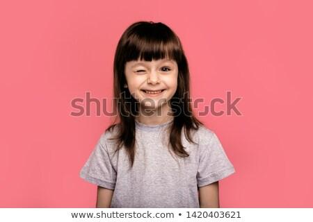 Mensen emoties gezichtsuitdrukkingen aanbiddelijk jonge vrouw onzeker Stockfoto © vkstudio