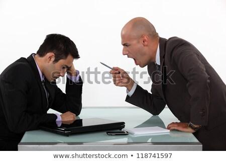 Screaming boss and secretary Stock photo © jossdiim