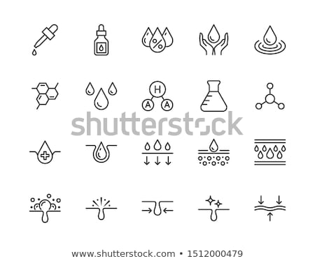 nutritious cream icon vector outline illustration Stock photo © pikepicture