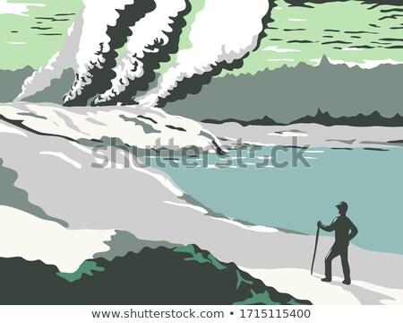 Błoto strzelanie retro ilustracja naturalnych hot Zdjęcia stock © patrimonio