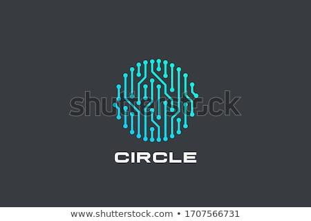 áramkör logo sablon vektor ikon terv Stock fotó © Ggs