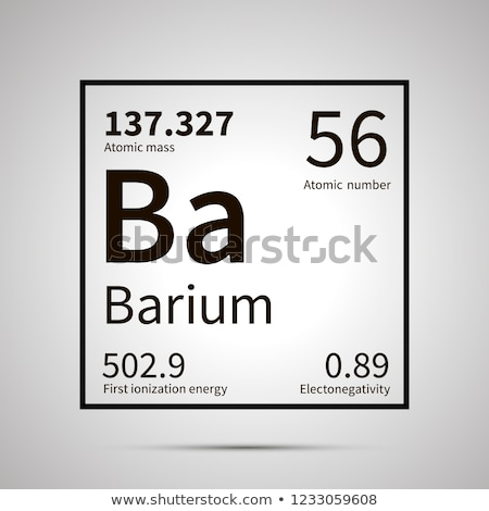 Barium chemical element with first ionization energy, atomic mass and electronegativity values ,simp Stock photo © evgeny89