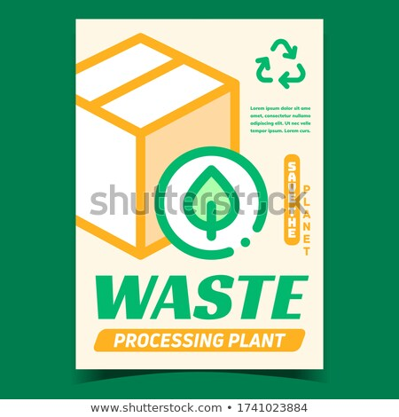 Waste Processing Plant Promotional Banner Vector Stock photo © pikepicture
