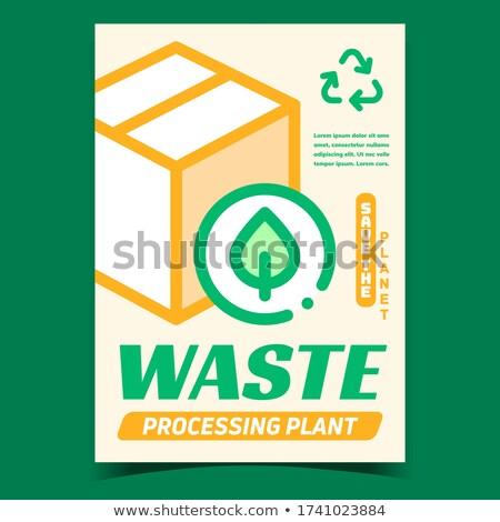 Desperdiçar planta bandeira vetor cartão Foto stock © pikepicture