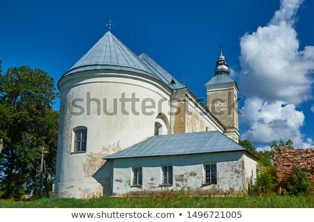 Szent templom Fehéroroszország város építkezés építészet Stock fotó © borisb17