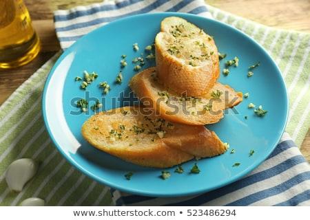 Maison français baguettes huile d'olive lumière fond Photo stock © furmanphoto