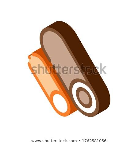 Körkörös csövek izometrikus ikon vektor felirat Stock fotó © pikepicture