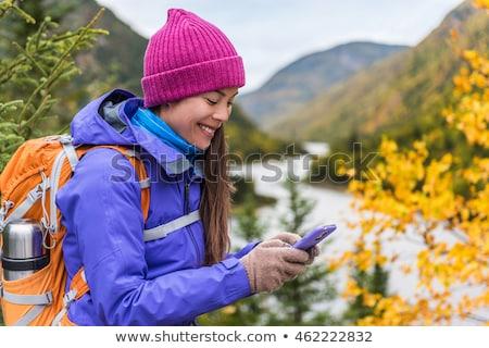 Szczęśliwy asian dziewczyna zimno pogoda narzędzi Zdjęcia stock © Maridav