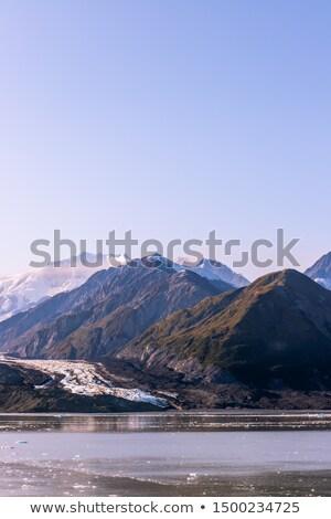 Iklim değişikliği küresel isınma buzul panoramik afiş Stok fotoğraf © Maridav