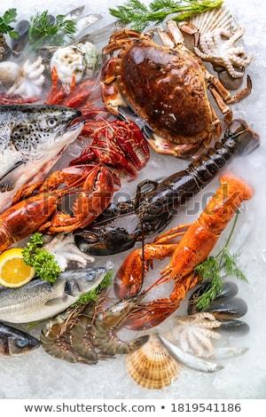Fresh Crabs Stok fotoğraf © vichie81