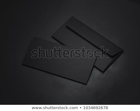 黒 · 封筒 · 孤立した · 白 · オフィス · デザイン - ストックフォト © cidepix