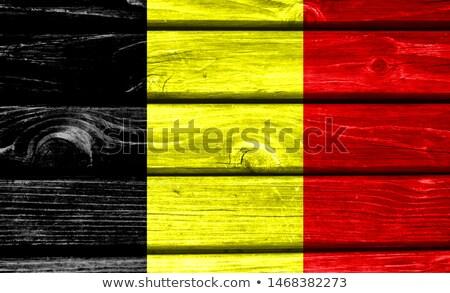 ベルギー グランジ フラグ 古い ヴィンテージ グランジテクスチャ ストックフォト © HypnoCreative