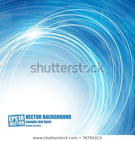 Abstract sneeuwvlokken Blauw gelukkig sneeuw Stockfoto © orson