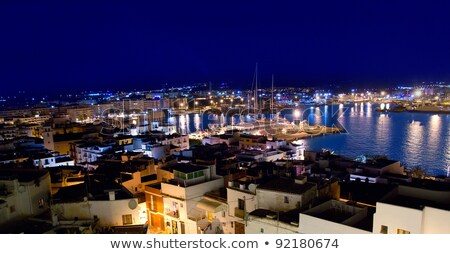 Ibiza downtown eivissa high angle night view Stock photo © lunamarina