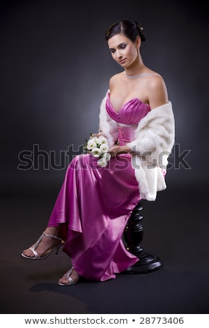 vrouw · avondkleding · mooie · jonge · vrouw · poseren - stockfoto © nyul