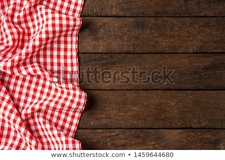 Red checkered rural tablecloth background Stock photo © lightpoet