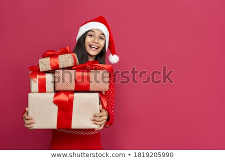 kids with presents stock photo © lightkeeper