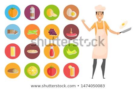 şef · tava · gıda · Metal · mutfak - stok fotoğraf © photography33