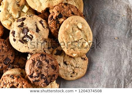 オートミール · チョコレート · チップ · クッキー · 孤立した · 白 - ストックフォト © fotogal