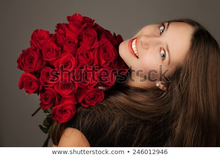 Laughing Lady With Valentines Gift stock photo © stryjek