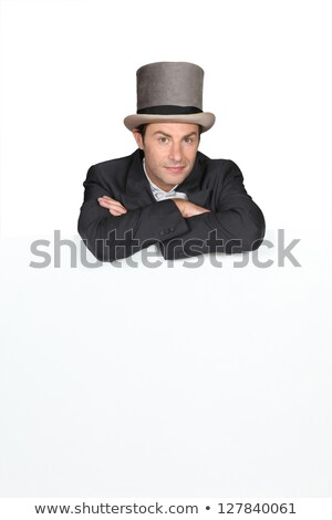 человека Top Hat совета свадьба черный Сток-фото © photography33