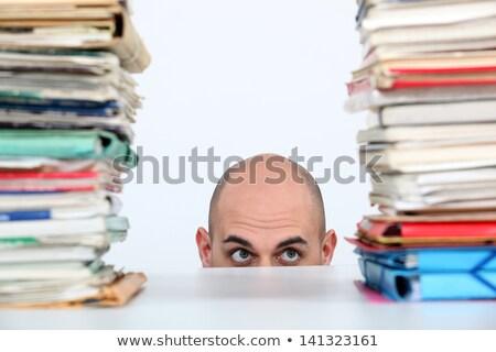 Człowiek książek tabeli reklamy dating Zdjęcia stock © photography33