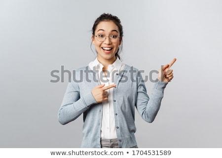 Excitação estudante branco mão livro corpo Foto stock © szefei