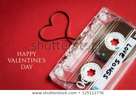 Boldog valentin nap zene piros szív hangjegyek Stock fotó © davidgn