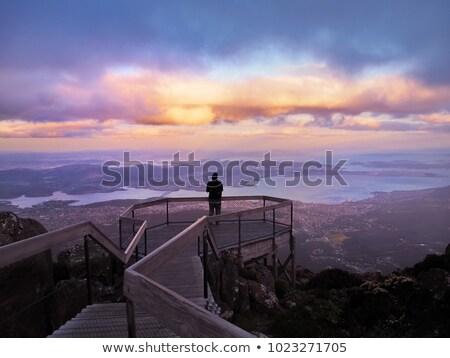 Topo Wellington tasmânia água paisagem mar Foto stock © 3523studio