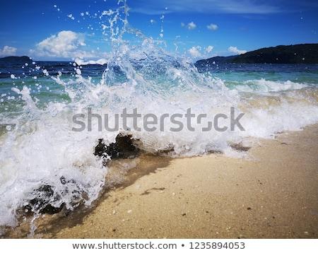 ola · grande · playa · California · EUA · agua - foto stock © saje