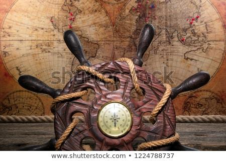 vintage · mundo · globo · ornamento · isolado - foto stock © m_pavlov