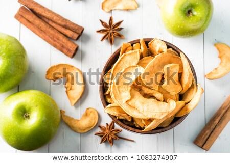 сушат · яблоки · корицей · фрукты · торт · зима - Сток-фото © yelenayemchuk