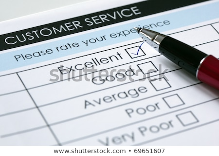 Customer Service with Excellent Ticked Stock photo © mscottparkin