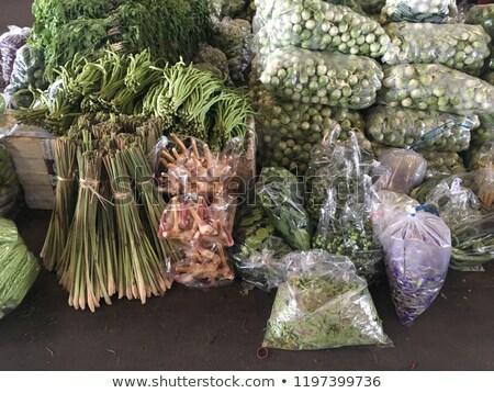 Сток-фото: различный · Салат · продавать · Фермеры · рынке · подготовленный
