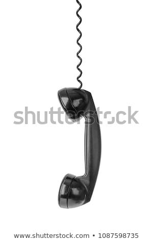 Fekete telefon fehér Stock fotó © devon
