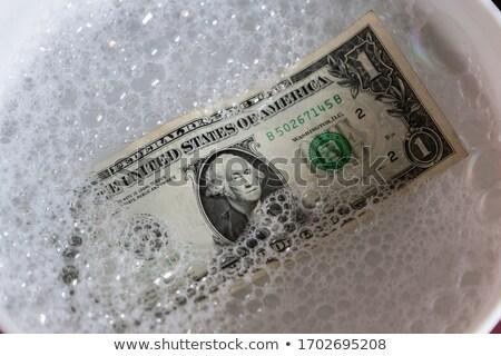 пузырьки доллара банкнота воды деньги волна Сток-фото © pterwort
