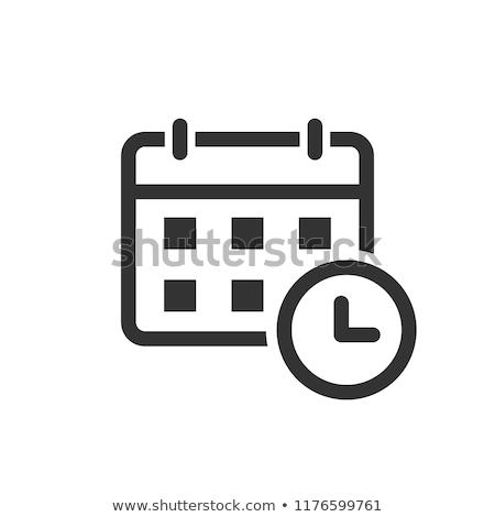 Photo stock: L'ordre · du · jour · planification · luxe · stylo · bureau
