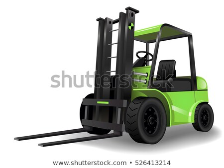 Green forklift Stock photo © jakatics