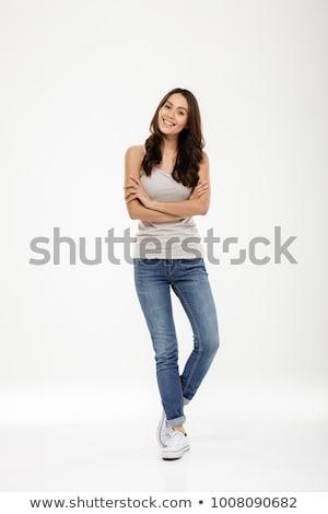 若い女の子 立って 肖像 若い女性 少女 ストックフォト © curaphotography