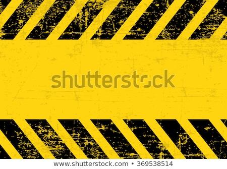 Sujo perigo escuro amarelo preto Foto stock © experimental