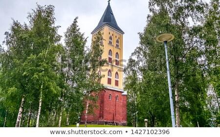 Церкви города деревья зеленый синий желтый Сток-фото © Estea