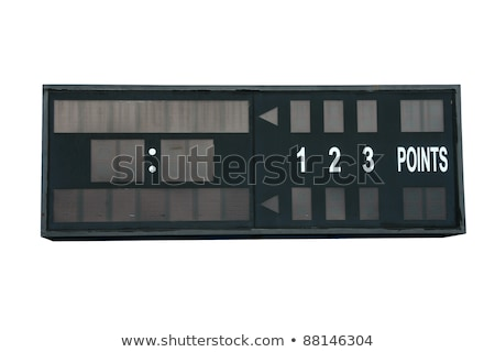 Vazio tênis scoreboard isolado branco esportes Foto stock © pinkblue