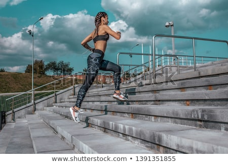 Woman legs on the cloud Stock photo © Toivo