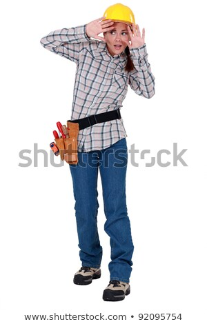 A fearful tradeswoman Stock photo © photography33