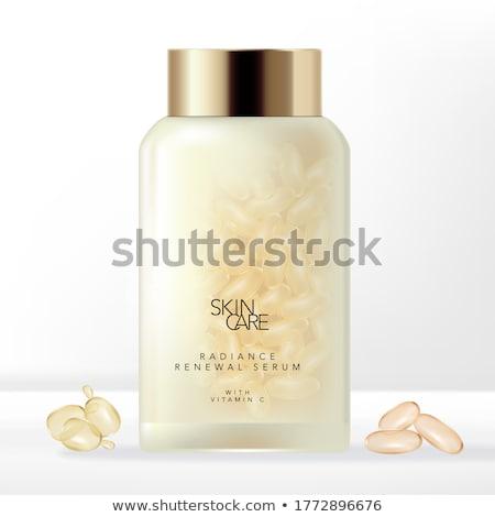 Cosmetische capsule vrouwelijke handen vrouwen medische Stockfoto © papa1266