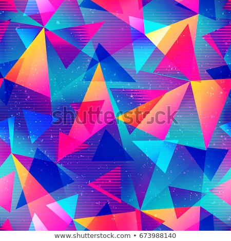 Abstract seamless texture -  color polygonal shapes Stock photo © pzaxe