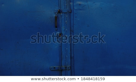 Azul porta típico belo cidade casa Foto stock © garethweeks